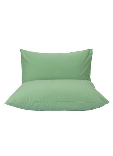 Bella Maison %100 Pamuk Ranforce Mor Yastık Kılıfı 50x70 cm (2 Adet) Yeşil